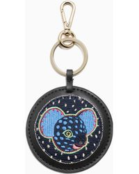 & Other Stories Patch Leather Keyring - Blue