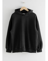 & Other Stories Oversize-Hoodie - Schwarz