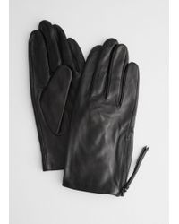 & Other Stories Side Zip Gloves - Black