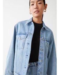 & Other Stories Button Up Denim Jacket - Blue