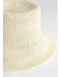& Other Stories - Woven Straw Bucket Hat - Lyst