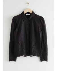 & Other Stories - Broderie Anglaise Blouse - Lyst