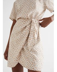 & Other Stories Knot Detail Mini Dress - Natural