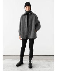 & Other Stories Oversized Shirt Jacket - Black