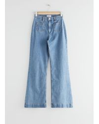 & Other Stories Flared High Waist Jeans - Blue