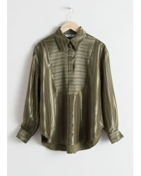 & Other Stories - Striped Jacquard Lounge Shirt - Lyst