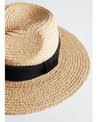 & Other Stories Woven Straw Fedora - Natural