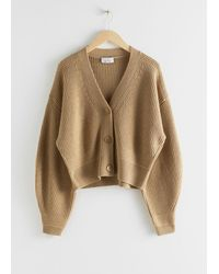 & Other Stories Cropped Cardigan - Natural