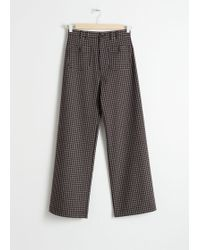 & Other Stories - Kick Flare Plaid Trousers - Lyst
