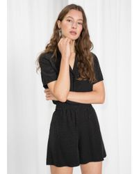 & Other Stories - High Waisted Elasticated Shorts - Lyst