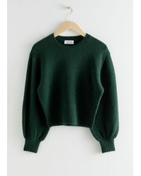 & Other Stories Cropped Sweater - Green