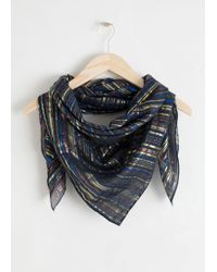 & Other Stories - Metallic Triangle Scarf - Lyst