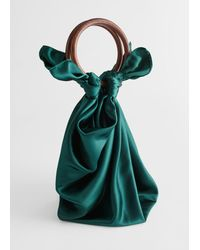 & Other Stories Satin Scarf O-ring Bag - Green