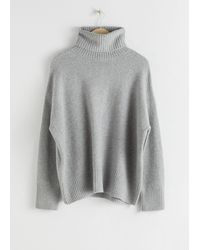 & Other Stories High Neck Jumper - Gray