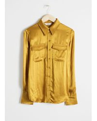 & Other Stories - Satin Workwear Shirt - Lyst