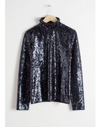 & Other Stories - Sequin Turtleneck - Lyst