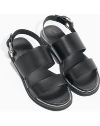 & Other Stories - Raw Edge Leather Sandals - Lyst