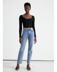 & Other Stories Favourite Cut Cropped - Blue