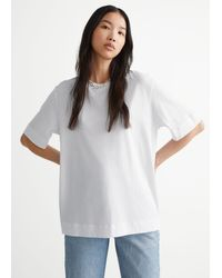 & Other Stories Relaxed Crewneck T-shirt - White