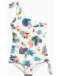 & Other Stories - One Shoulder Knot Swimsuit - Lyst
