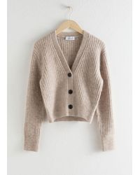 & Other Stories Wool Blend Cardigan - Brown