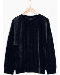 & Other Stories - Velvet Sweatshirt - Lyst
