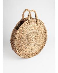 & Other Stories - Woven Straw Circle Bag - Lyst
