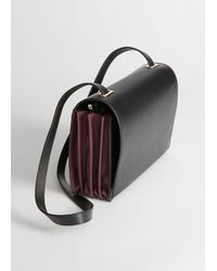 & Other Stories Duo Tone Leather Crossbody Bag - Black