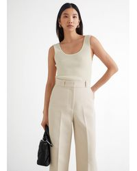 & Other Stories - Fitted Tank Top - Lyst