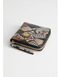 & Other Stories Leather Zip Wallet - Yellow
