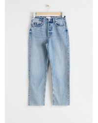& Other Stories Straight High Waist Jeans - Blue