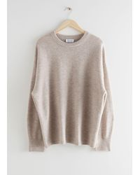 & Other Stories Oversized Wool Knit Jumper - Natural