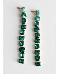 & Other Stories - Crystal Drop Earrings - Lyst