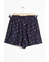 & Other Stories - Tropical Paperbag Waist Shorts - Lyst
