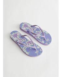 & Other Stories Sleepers Slim Flip Flops - Blue