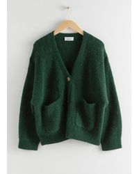 & Other Stories Alpaca Wool Blend Cardigan - Green