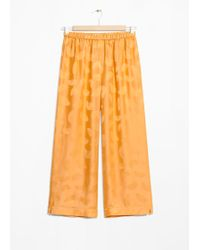& Other Stories - Printed Cropped Trousers - Lyst