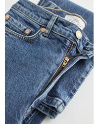 & Other Stories Crush Cut Cropped Jeans - Blue