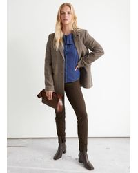 & Other Stories Front Slit Leggings - Brown