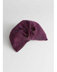& Other Stories - Metallic Striped Turban - Lyst