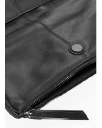 & Other Stories - Leather Fold Over Backpack - Lyst