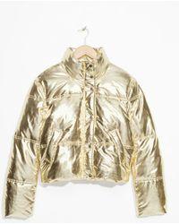 & Other Stories - Metallic Puffer Jacket - Lyst
