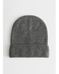 & Other Stories Soft Cashmere Knit Beanie - Grey
