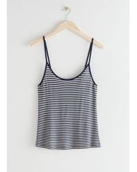 & Other Stories Spaghetti Strap Tank Top - Blue