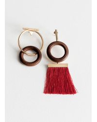 & Other Stories - Wood O-ring Mismatch Earrings - Lyst