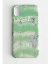 & Other Stories Tie Dye Iphone Case - Green