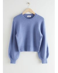 & Other Stories Cropped Jumper - Blue