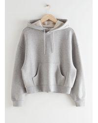 & Other Stories Oversized Boxy Hooded Sweatshirt - Grey