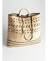 & Other Stories - Graphic Straw Tote Bag - Lyst