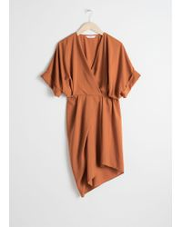 & Other Stories - Asymmetrical Gathered Wrap Dress - Lyst
